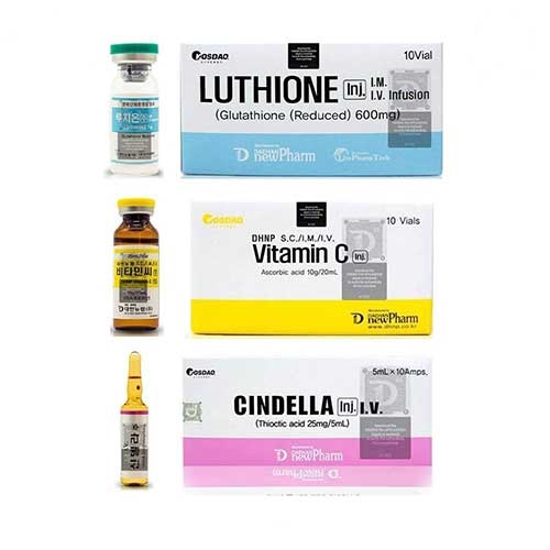 Cindella Glutathione 600mg Square Seal Injections